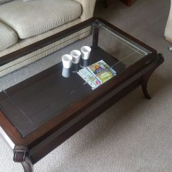 Original glass/wood coffee table