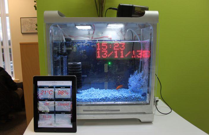 Internet enabled fish tank