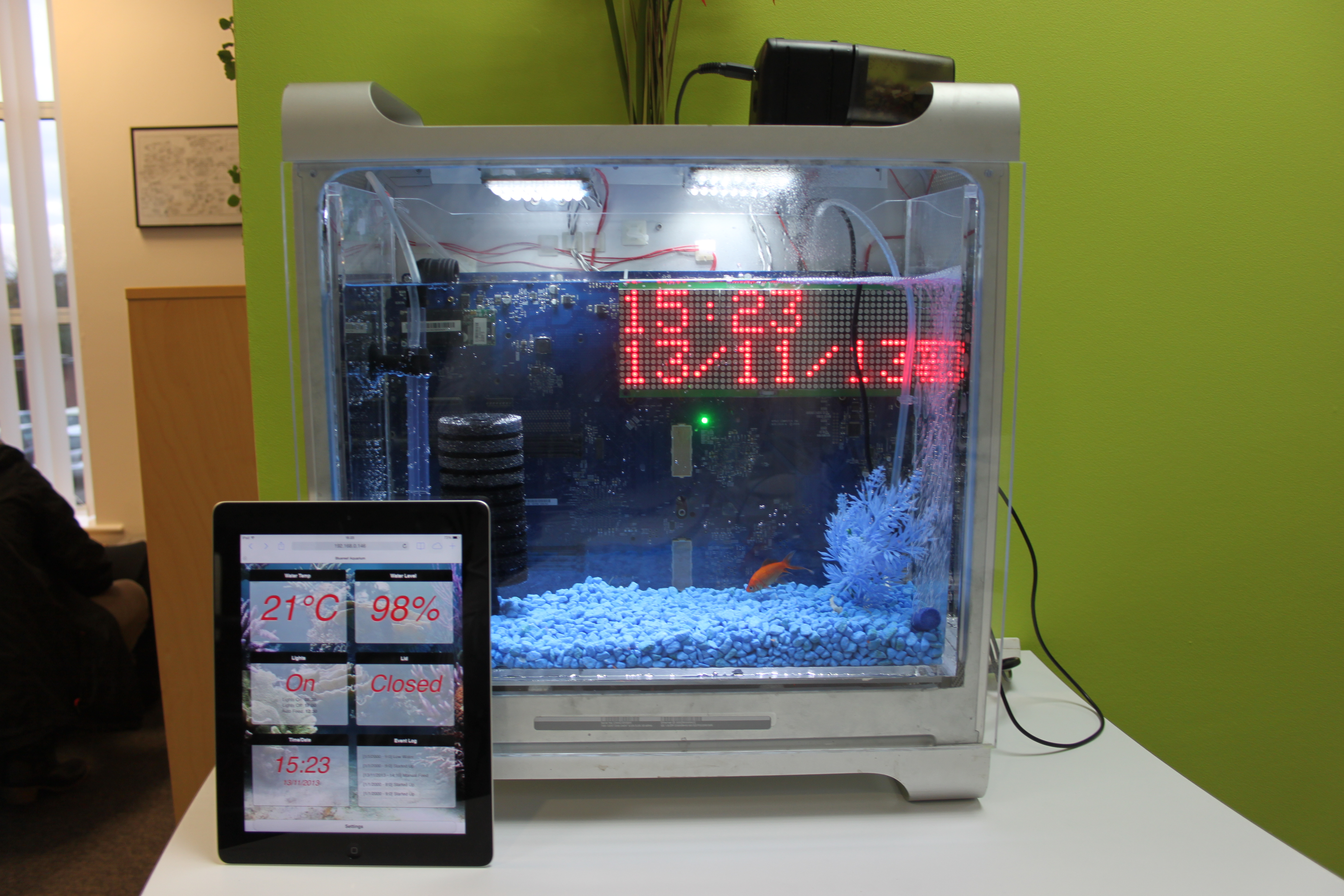The internet enabled fishtank hayden kibble for Smart fish tank