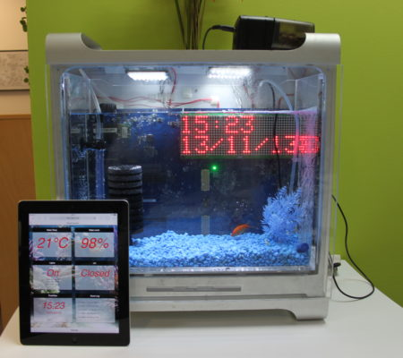 Internet enabled fish tank