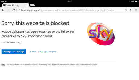 Unblock Sky Broadband Shield